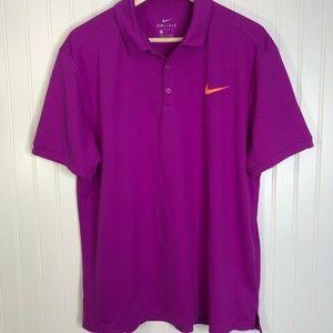 Magenta Purple Bright Nike Golf Polo Large Neon